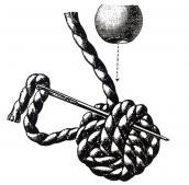 Простой плетеный помпон Theory26