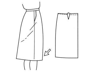 Корректировка выкройки юбки